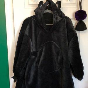 Cat ear sherpa lined hoodie